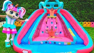 Download Vlad and crying Doll play with inflatable Toys Video