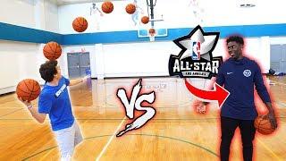 Download CRAZY BASKETBALL TRICKSHOTS VS NBA ALL STAR JRUE HOLIDAY! Video