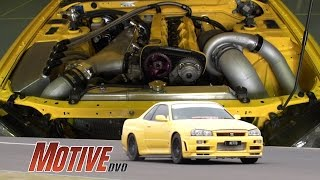 Download ″NITTO″ 1100Horsepower True Street R34 GT-R w/ sequential Video