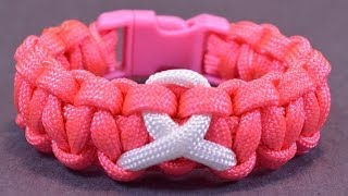 Download How to Make an Awareness Paracord Bracelet with Buckle - BoredParacord Video