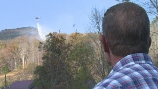 Download Helicopters drop water over Harlan County Video