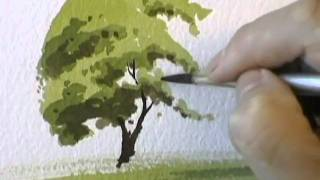 Download A Simple Tree - Watercolour Demonstration by PETER WOOLLEY Video