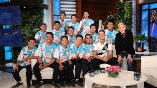 Download Ellen Talks to Thai Soccer Team in Their First In-Studio Interview Since Cave Rescue Video