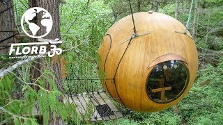 Download TINY Spherical TREE HOUSE Designed for MINIMAL DAMAGE to the Forest Video