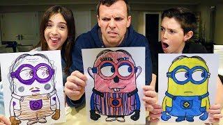 Download 3 MARKER CHALLENGE - Minion, Spongebob & Peppa Pig Edition Video