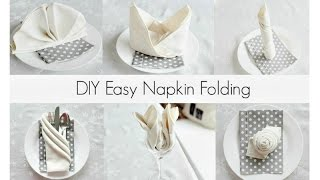 Download EASY Napkin Folding Tutorials for beginners! Video