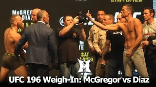 Download UFC 196: Conor McGregor + Nate Diaz Weigh-In And Stare Each Other Down. It's On! Video