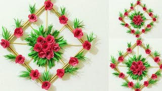Download DIY. Simple Home Decor - Paper Flower Wall Decorations - Easy Wall Decoration Ideas Video