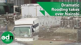 Download Dramatic flooding takes over Nairobi Video