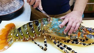 Download Japanese Street Food - $600 GIANT RAINBOW LOBSTER Sashimi Japan Seafood Video