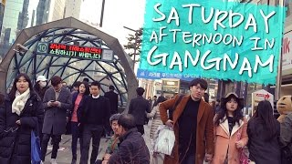 Download PEOPLE WATCHING IN KOREA 🇰🇷 - Saturday Afternoon in Gangnam (대한민국 사람 구경 - 토요일 오후 강남에서) Video