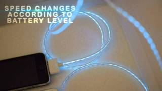 Download Illuminated iphone USB charge cable EL Video