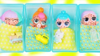 Download LOL Surprise Dolls + Lil Sisters get Chicken Pox at Doctor Baby Hospital - Toy Mystery Fizzy Video Video