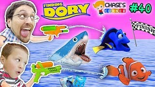 Download Chase's Corner: FINDING DORY & NEMO SHARKS RACE w/ Water Fun (#40) | DOH MUCH FUN Video
