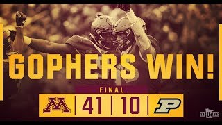 Download Highlights: Gopher Football Defeats Purdue 41-10 Video