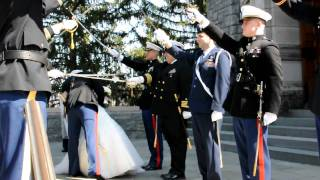 Download Marine Corps Military Sword Arch at West Point Video