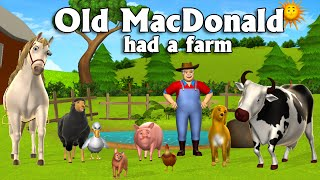 Download Old MacDonald Had A Farm - 3D Animation English Nursery Rhymes & Songs for children Video