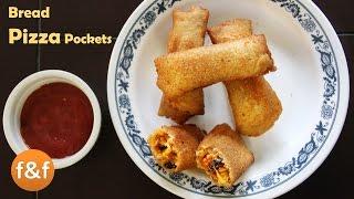 Download Bread Pizza Pockets - Veg Bread Pizza Snacks - ब्रेड पिज़्ज़ा पॉकेट्स - Easy Bread Pizza Recipe Video