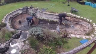 Download Garden Koi Pond Renovation Timelapse Video