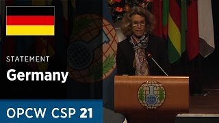 Download Germany Statement delivered by Mrs Susanne Baumann at CSP21 Video