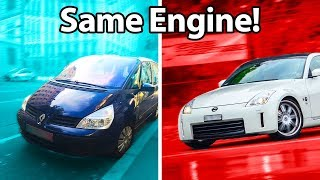 Download 5 Cars You'd Never Guess Shared Engines!! 🔧 Video
