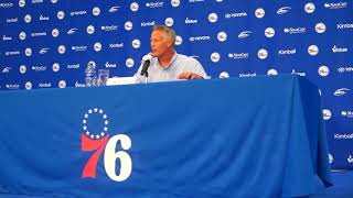 Download Brett Brown discusses round one of the 2018 NBA Draft Video