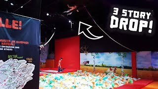 Download 3 Story Roof Drop at the Dudesons Activity Park! (with Jarppi and Jarno) Video