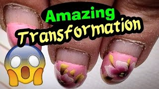 Download AMAZING TRANSFORMATION: Russian Style Hardware Manicure, Gel Nails Infill & Vibrant Poppies Flowers Video