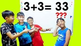 Download Hunter Kids Go To School Learn Colors Math (3 + 3 = 33 ) | Classroom Funny Nursery Rhymes Video
