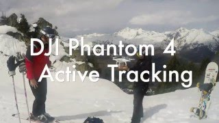 Download DJI Phantom 4 Active Tracking While Skiing Video
