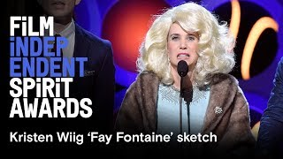 Download Kristin Wiig 'Fay Fontaine' sketch | 2018 Film Independent Film Festival Video