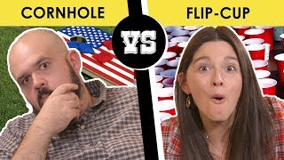 Download Cornhole or Flip-Cup, better tailgating game? - Back Porch Bickerin' Video