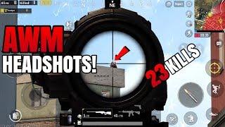 Download AWM HEADSHOTS!   23 Kills FPP Solo VS Squad   PUBG Mobile Video