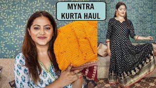 Download Huge Myntra EORS sale Kurta haul| AKS, Libas & more| GoGlam Video