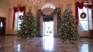 Download U S First Lady unveils 2016 White House holiday decorations Video