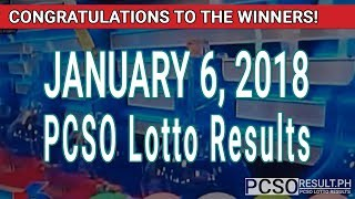 Download PCSO Lotto Results Today January 6, 2018 (6/55, 6/42, 6D, Swertres, STL & EZ2) Video