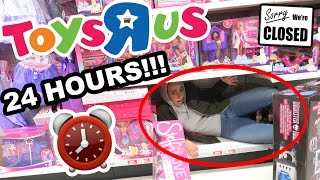 Download HIDING OVERNIGHT IN TOYS R US!! ⏰ 24 HOUR FORT CHALLENGE 😮 Video