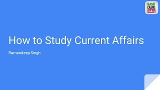 Download How to Study Current Affairs for Bank Exams Video