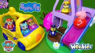 Download Paw Patrol Toys Peppa Pig Toys Weebles Toy Stories for Kids School Bus Wind & Wobble House Episode! Video