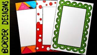 Download Banner   Border designs on paper   border designs   project work designs   borders for projects Video