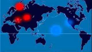 Download A Time-Lapse Map of Every Nuclear Explosion Since 1945 - by Isao Hashimoto Video