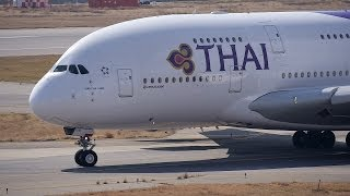 Download Thai Airways International Airbus A380 HS-TUB Takeoff from KIX 24L Video