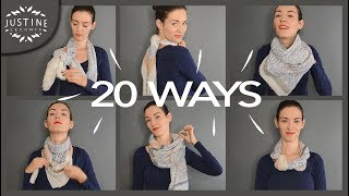 Download 20 ways to wear a scarf & what they're good for | Justine Leconte Video