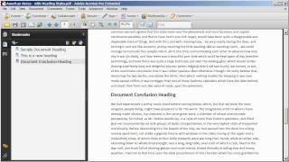 Download Adding and Editing Bookmarks in a PDF Document Video