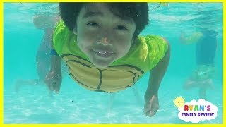 Download Kids Playtime at the Pool and Water Slide! Family Fun Vacation at Resort Hotel Video