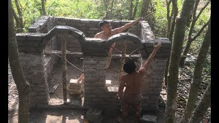 Download Primitive technology with survival skills Wilderness build house Roman part 4 Video