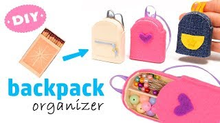 Download Diy Miniature Backpack Organizer With Matchbox | Back to school Video