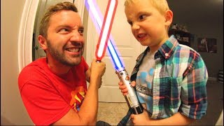 Download FATHER SON LIGHTSABER BATTLE! Video