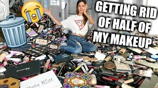 Download GETTING RID OF HALF OF MY MAKEUP COLLECTION | BIGGEST DECLUTTER EVER! Video