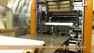 Download Automatic stretch film rewinding machine PSF-011M Video